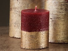 """PILLAR TWO TONE RED/GOLD (2""""X2.5"""")"""