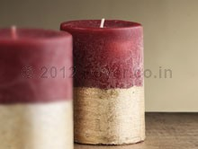 """PILLAR TWO TONE RED/GOLD   (3""""X4"""")"""