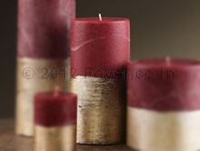 """PILLAR TWO TONE RED/GOLD (3""""X6"""")"""