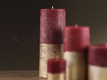 """PILLAR TWO TONE RED/GOLD (3""""X8"""")"""