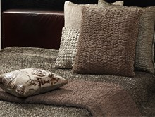 CRUSHED  QUILTED   BEDSPREAD